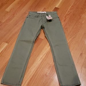 Olive green Levi jeans